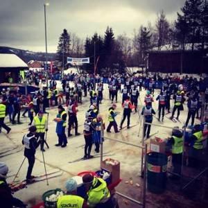 Vasaloppskontrollen i Evertsberg under Öppet spår i måndags