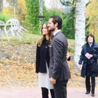 Carl Philip och Sofia utanför Kvarnen