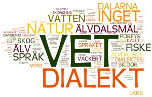 I Visit Idres varumärkesundersökning 2013 visade det sig att dialekt och språk var det som många kopplade till Älvdalen..