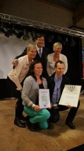Årets Företagare Bengt Leandersson och Årets Nyföretagare Johanna Petersson 2012 tillsammans med kommunalrådet Nils-Åke Norman och Eva Pettersson, ordförande i Företagarna i Älvdalen.