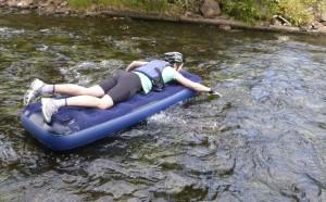 Även förflyttning på vatten ingår i Sportkullan Adventure Race :-)