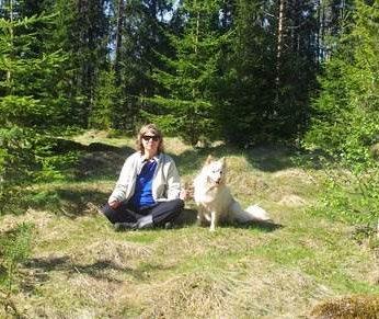 Anne-Maj och hunden