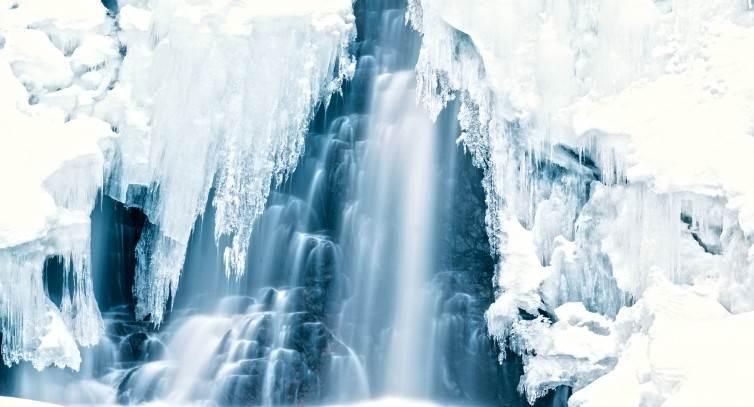 Fredrik Larssons vinterbild, Stops vattenfall